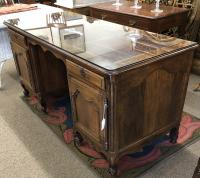 Country French walnut leather top desk c1780