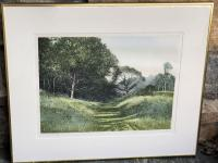 Sullivans woods by P  Bisson lithograph 38 of 350