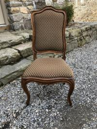 Louis XV upholstered walnut chair c1780