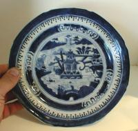 Antique Nanking Chinese porcelian blue and white plate