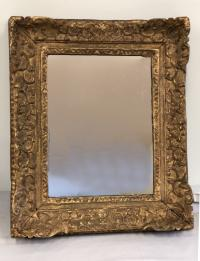 Antique French gilt framed mirror c 1800