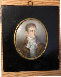 Early 19th c portrait portrait of a gentleman