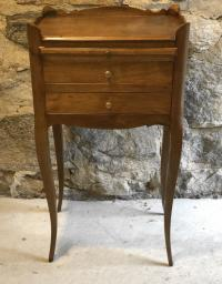 Antique country French walnut night stand