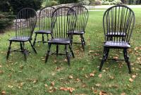Set of 6 Bow Back Windsor Chairs