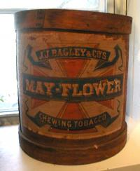 Antique Advertising Mayflower tobacco barrel