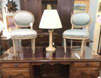 Rare pair of Louis XVI period French childs chairs