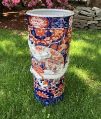 Antique Japanese Imari umbrella stand c1880