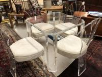 Lucite table and 4 chairs by Hill c1970