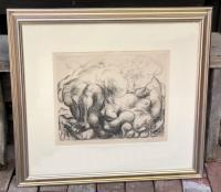 Signed Pablo Picasso lithograph Vollard Suite 1952