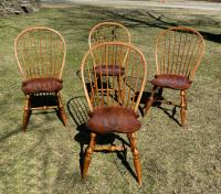D R Dimes bow back Windsor chairs