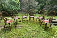 D R Dimes Windsor dining chairs