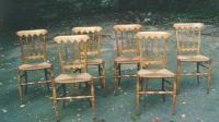 Antique French furniture pearwood chairs