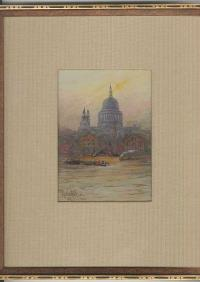 Maria Eaton Antique ST Pauls Cathedral watercolor