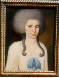 American Folk Art Oil Painting of a Woman