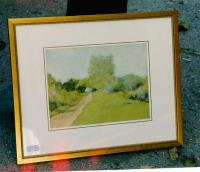 Fine Art Watercolor landscape by Fannie Burr