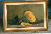 Fine still life Oil on canvas by Fannie Burr