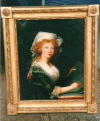 Antique paintings 18th C French portrait oils