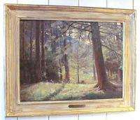 Oil on board by Victor Anderson Edge of Woods
