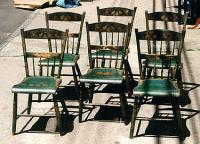 American country Sheraton antique painted chairs