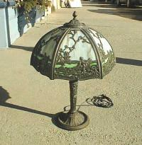 Antique Victorian slag glass lamp