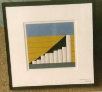 Modern art George Giusti colored lithograph