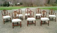 Antique George lll Shield-Back dining chairs