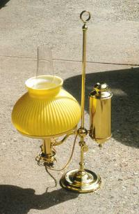 Antique lamp Victorian brass students lamp