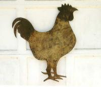 American Antique folk art tin Rooster