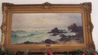 Mary Loring Warner seascape oil painting on canvas