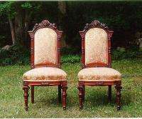 Antique Pair of Victorian carved oak chairs