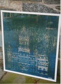 Blue print of Connecticut State Capitol