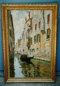 Venice oil on canvas Francesco R Santoro