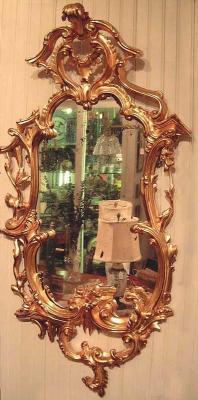 Period Antique English Chippendale mirror