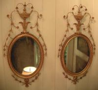 Pair of Regency style antique gilt mirrors