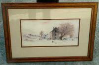 Antique water color by Hendricks A. Hallett