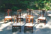 Antique centennial set of American Chippendale chairs