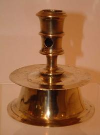 16th century Dutch brass candlestick c 1680