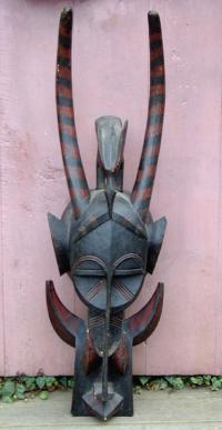 African tribal Ivory Coast firespitter mask