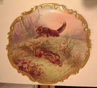 Strauss Lewis and Sons Limoges Hunt Plate