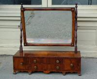 Antique English furniture Mahogany Shaving Mirror