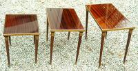 Antique French Louis Philippe Mahogany Nesting Tables
