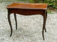 Antique Louis XV Style French Mahogany Game Table