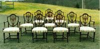 Signed set of ten Harold Margolis dining chairs from Hartford CT