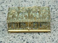 Antique English Solid Brass Box c1830 to 1870