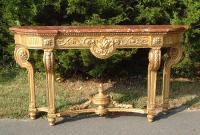 Louis XVI Style French Giltwood Console Table