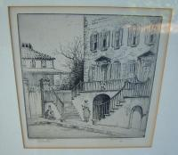 Elizabeth ONeill Verner etching Courthouse