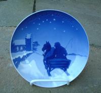 Bing and Grondahl Porcelain Christmas Plate dated 1906