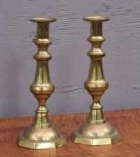 Brass push up candlesticks
