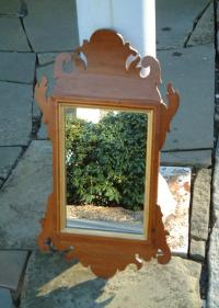 Antique American Chippendale wall mirror