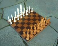 Fine Chinese Chess Set of Hand Carved Ivory